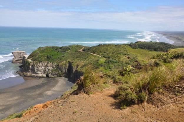 otakamiro point at muriwai regional park, waitakere, new-zealand