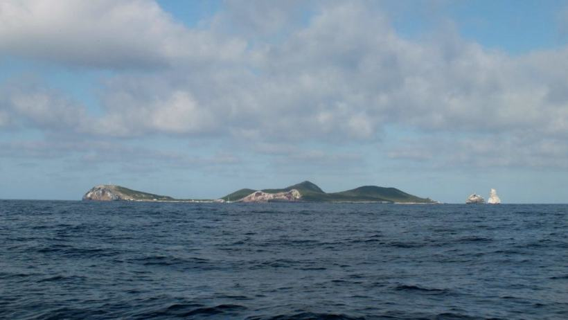 An image of Isla Isabel from a boat on the Pacific Ocean off San Blas, Mexico. Photography by Frame To Frame - Bob and Jean