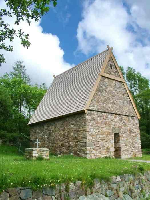 an early Christian monastery at Irish National Heritage Park, Ireland