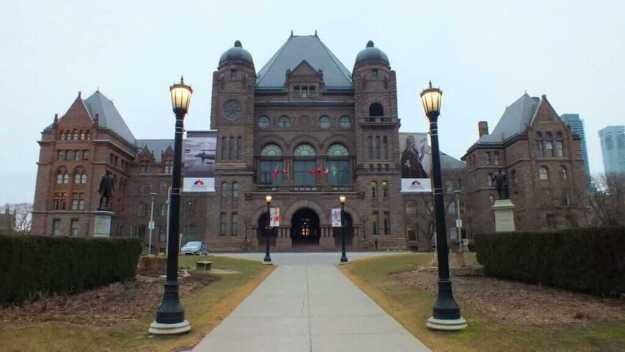 an image of Ontario's Legislative building at Queen's Park, Toronto, Ontario, Canada