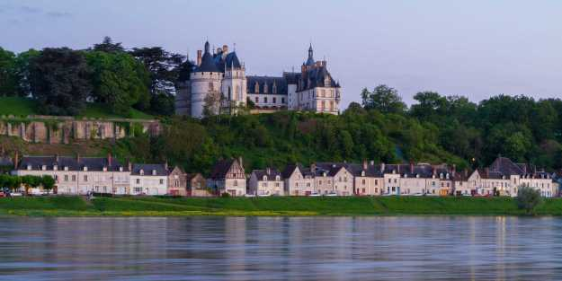 An image of Chateau Chaumont sur Loire on the north bank of the Loire River in France.