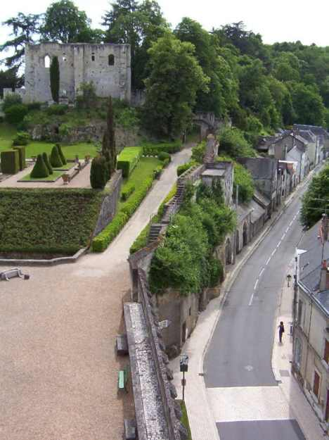 An image of the garden at Chateau de Langeais in the Loire Valley in France.