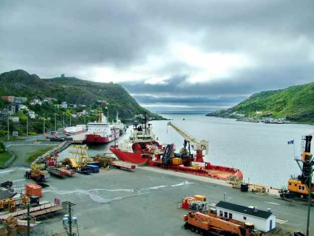 an image of ships in St. John's harbour, Newfoundland, Canada
