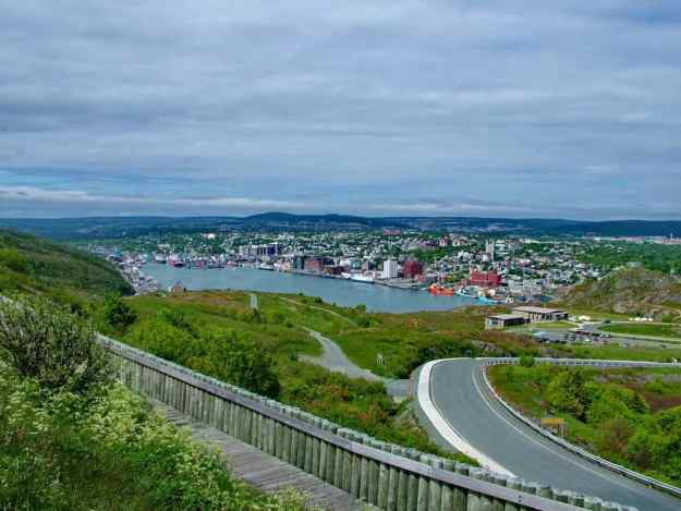 an image of a view overlooking St. John's harbour, Newfoundland, Canada