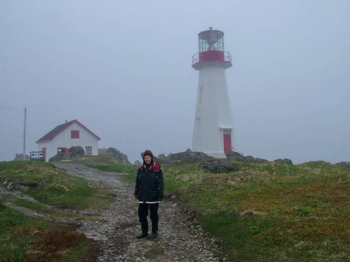 Jean at Quirpon Lighthouse, quirpon island, newfoundland, canada