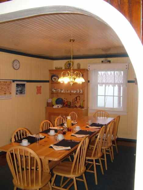 kitchen, quirpon lighthouse inn, quirpon island, newfoundland, canada