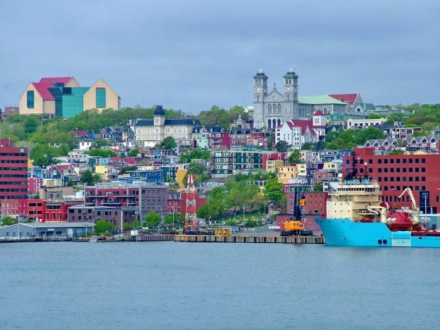 an image of a vibrant harbour scene in St. John's, Newfoundland, Canada