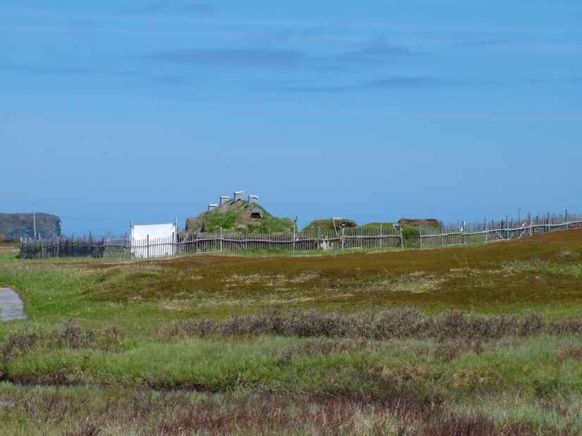 Viking village at l'anse aux meadows, newfoundland, canada