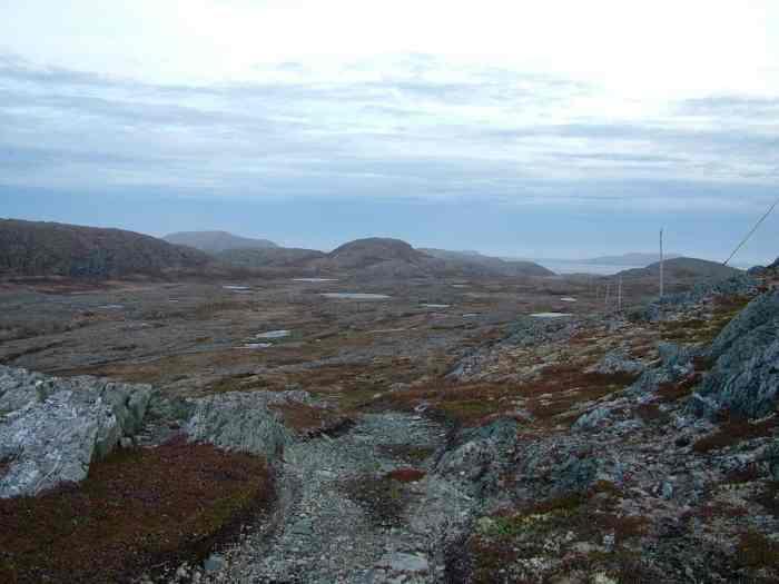 the rugged landscape of quirpon island, newfoundland, canada