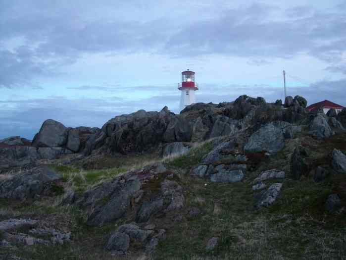 lighthouse on quirpon island, newfoundland
