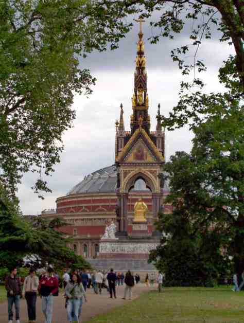 An image of Prince Albert Hall in London, England.