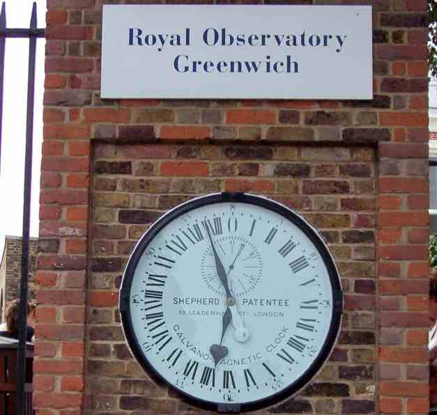 An image at the Royal Observatory in Greenwich, London, England.