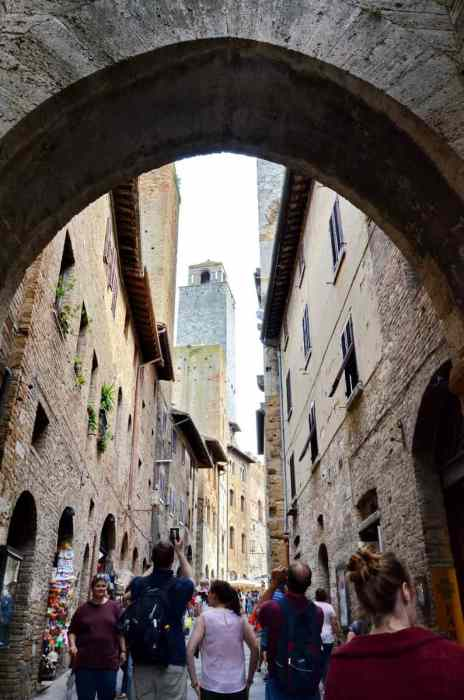 Image of Torre Grossa (Big Tower), in San Gimignano, Italy.