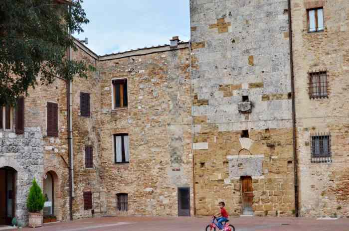 Image of homes inside the walls of San Gimignano, Italy.