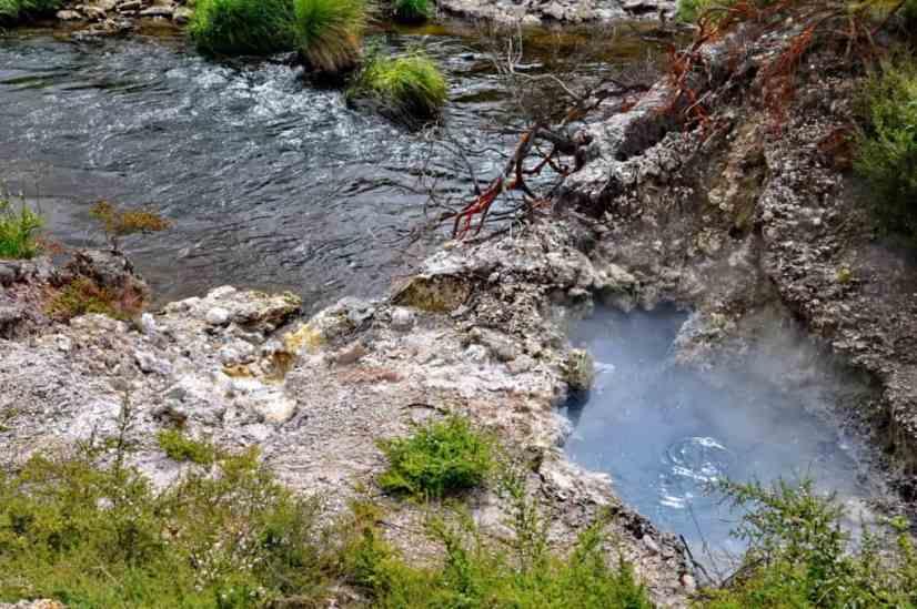 Image of a river at Te Puia Geothermal Preserve, Rotorua, New Zealand