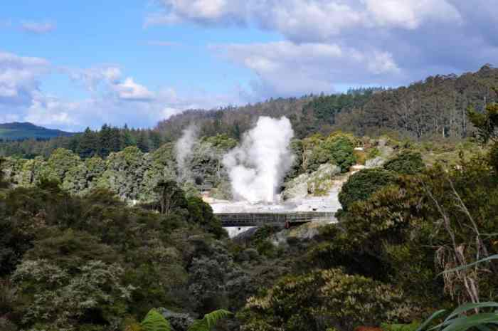 Image of Pohutu Geyser at Te Puia Geothermal Preserve near Rotorua, New Zealand