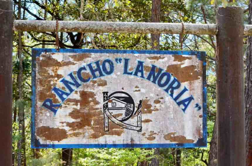 a sign for rancho la noria in tepic, mexico