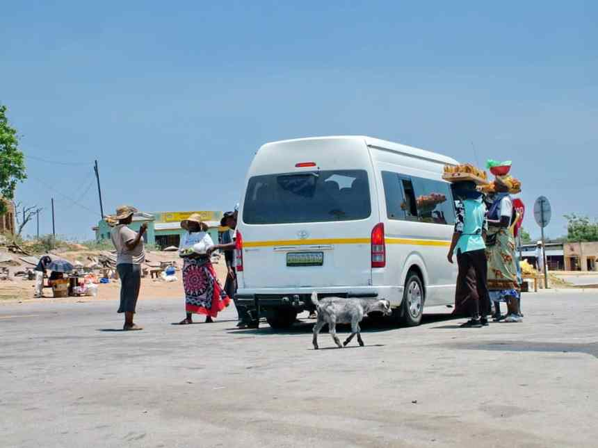 women arriving in Madlangamphisi, swaziland, to sell their wares
