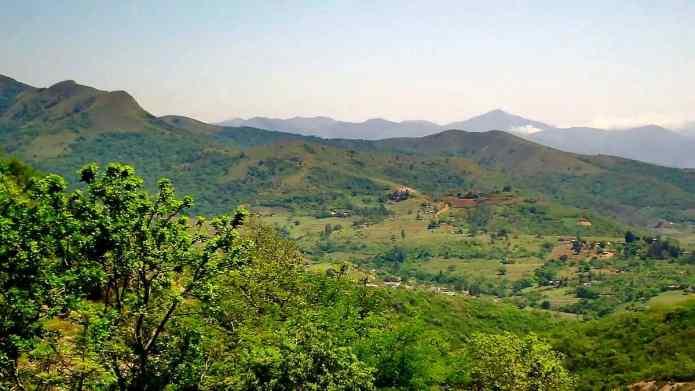 hillside communities in swaziland, africa