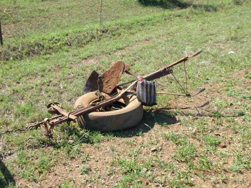 a primitive plough in swaziland, africa