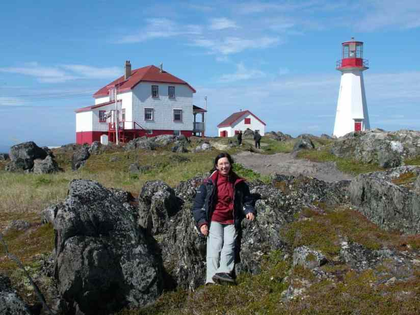 lightkeeper's home and lighthouse, quirpon island, newfoundland, canada