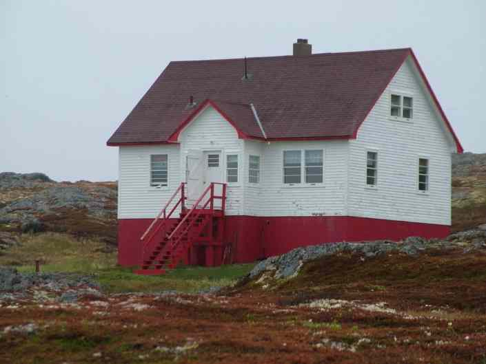 lightkeeper's guest house, quirpon island, newfoundland, canada