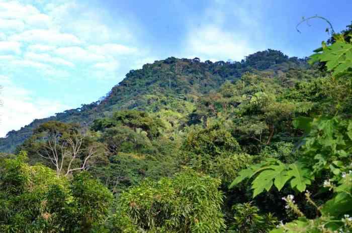 Image of the Serra Mountains near La Bajada, Mexico.