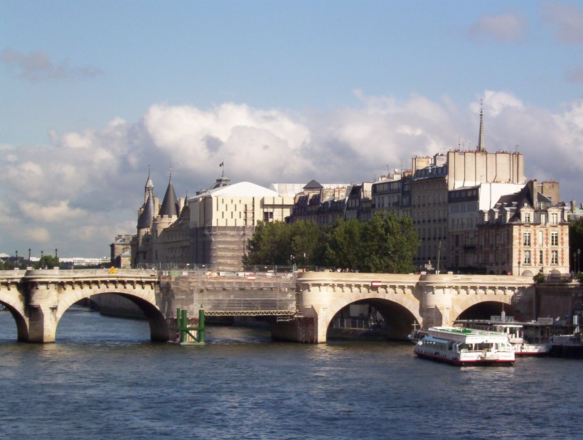 le conciergerie on the seine river, paris, france