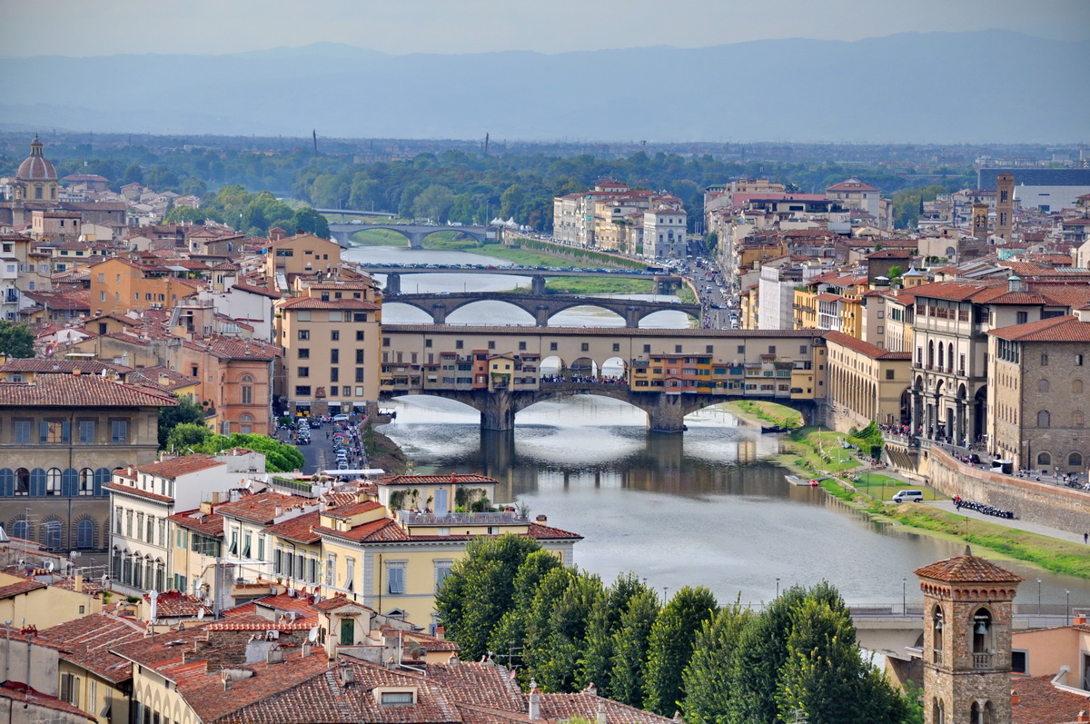 City Of Florence: The Ponte Vecchio In The Beautiful City Of Florence