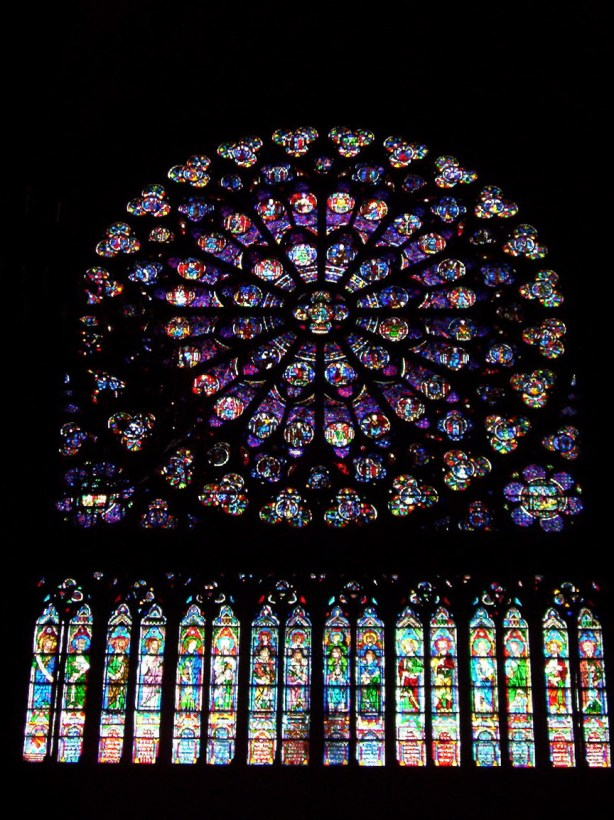 South Transept Rose Window, notre dame cathedral, paris, france