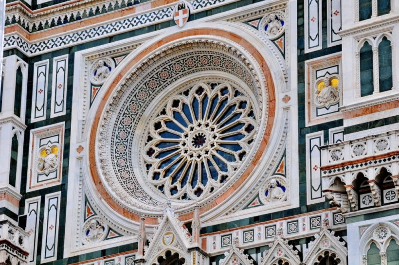 marble work on the florence cathedral, florence, italy