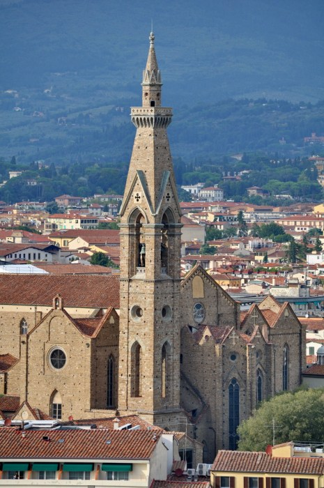the belltower of Basilica of Santa Croce, florence, italy
