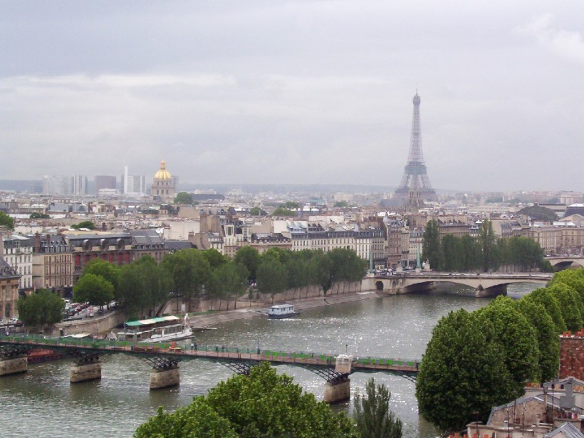 the seine river and eiffel tower, paris, france