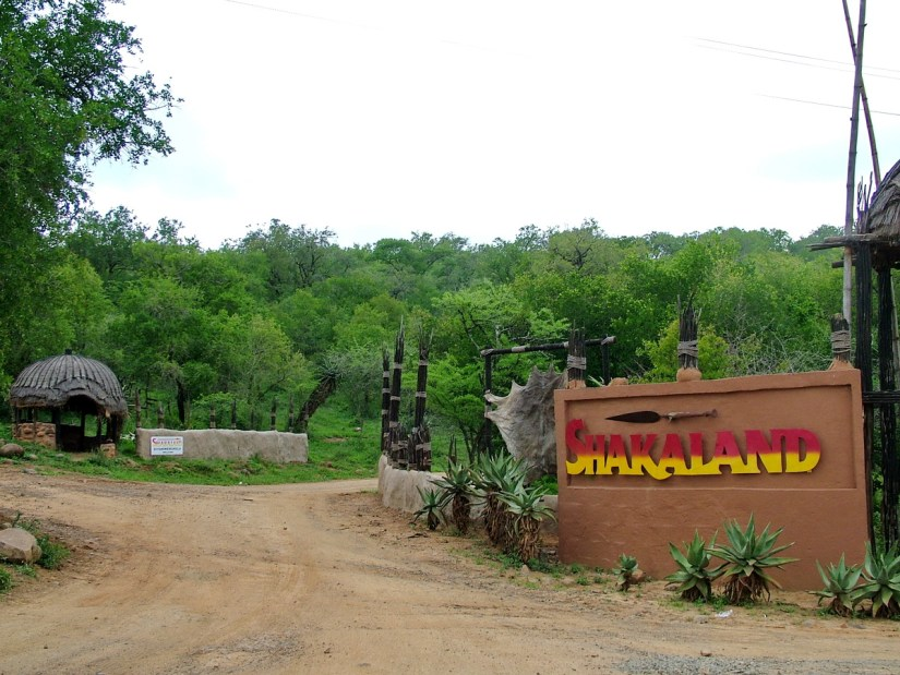 entrance to shakaland, kwazulu-natal, south africa