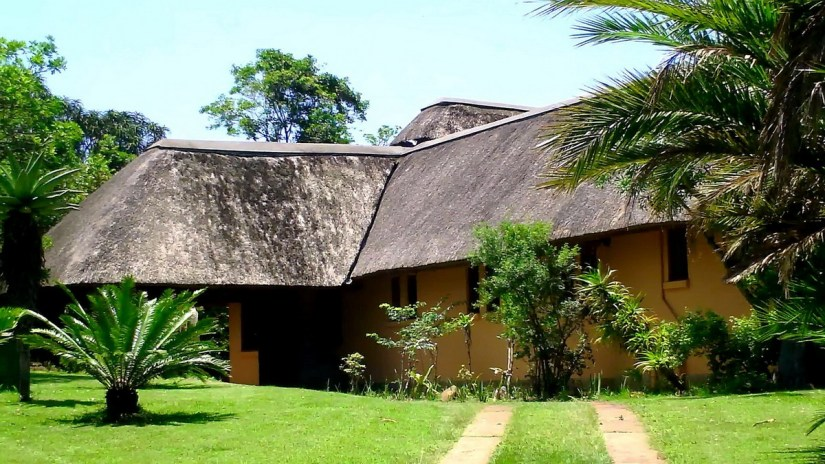 the original camp building at hilltop camp, hluhluwe-imfolozi, south africa