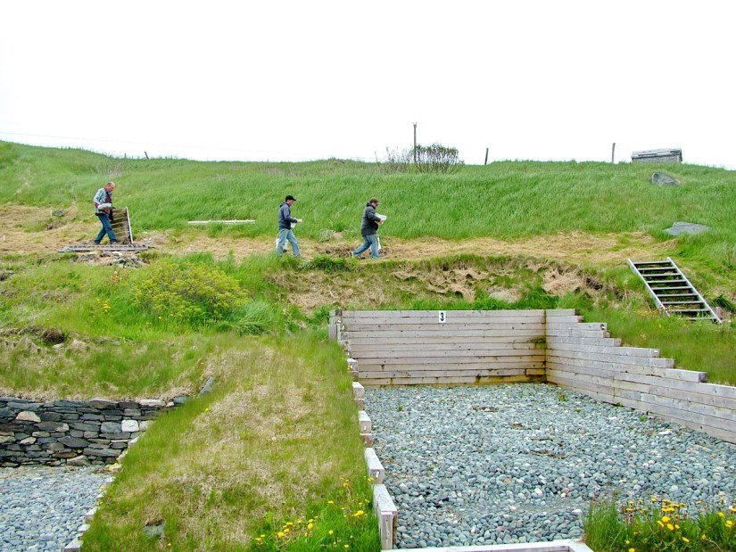 archaeology dig, lost colony of avalon, newfoundland, canada