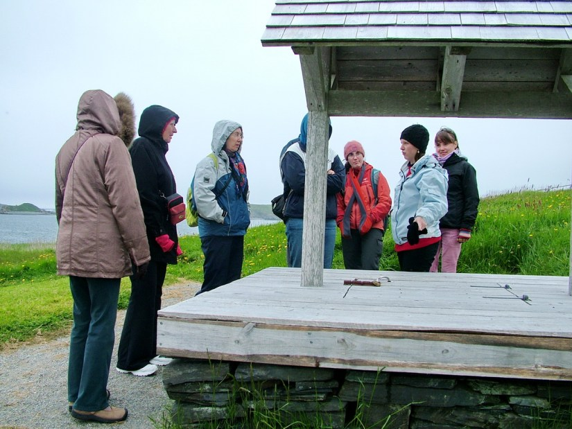 group tour, colony of avalon, newfoundland, canada