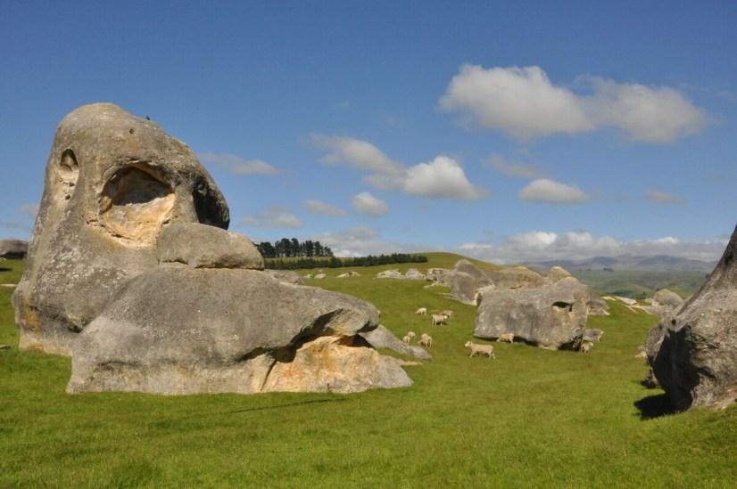 elephant rocks on the vanished world trail, south island, new zealand