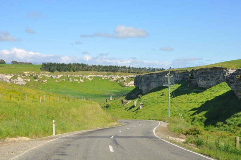 a highway near duntroon, south island, new zealand