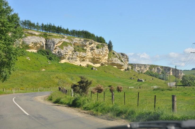 limestone cliffs, Maerewhenua Valley, duntroon, south island, new zealand