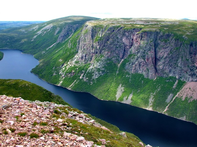 ten mile pond, gros morne mountain, newfoundland, canada