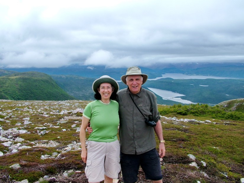 jean and bob at the summit of gros morne mountain, newfoundland, canada
