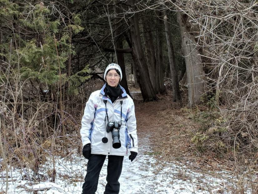 jean in the cedar woods, rouge national urban park, ontario