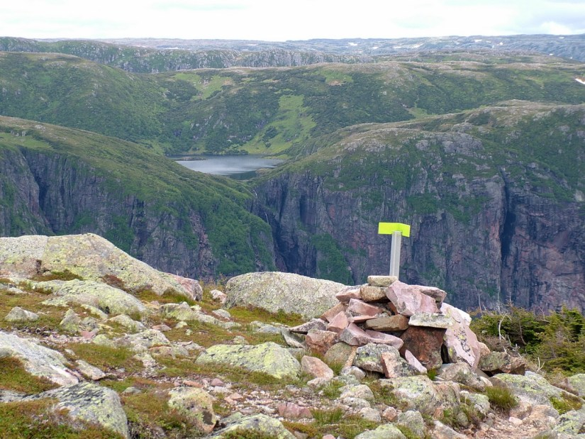 a hanging valley and waterfall, gros morne mountain, newfoundland, canada