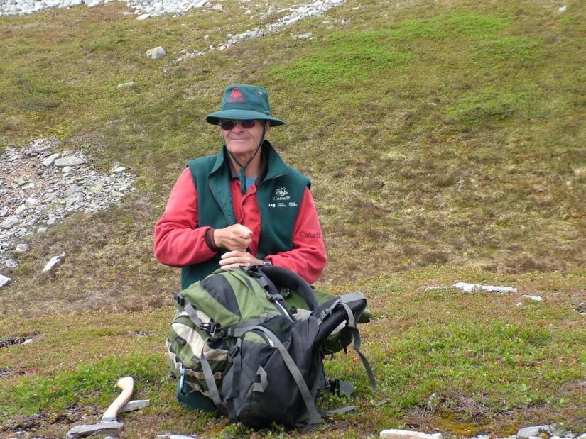 a park employee, gros morne national park, newfoundland, canada
