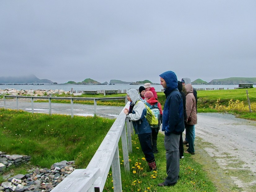 a group tour, colony of avalon, newfoundland, canada