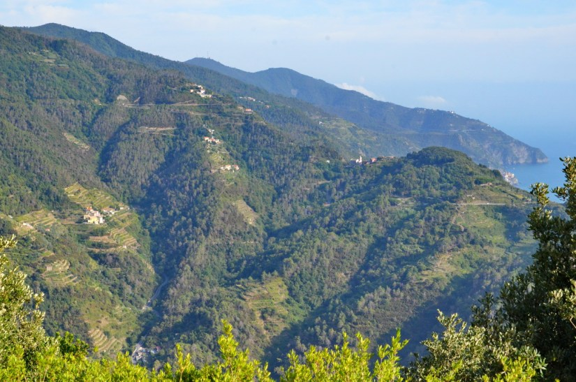 mountains, cinque terre, italy