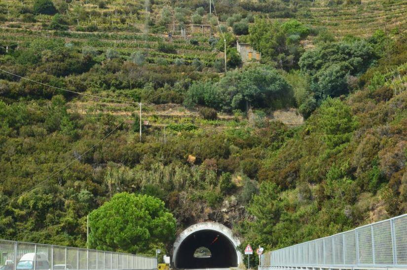 highway tunnel, cinque terre, italy