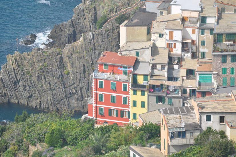 colourful houses, riomaggiore, cinque terre, italy