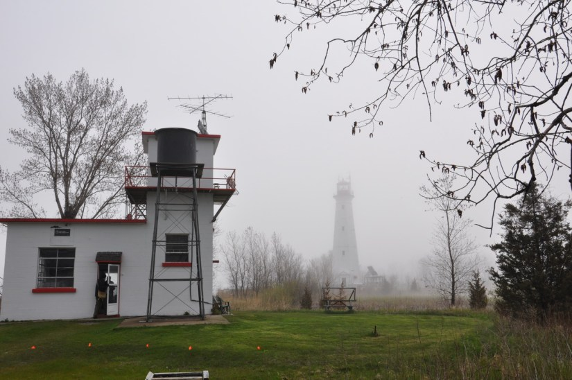 long point bird observatory research station, the tip of long point, lake erie, ontario